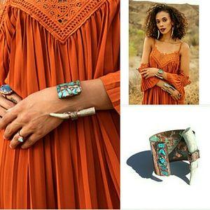 FP X Ouroboros Designs Turquoise Cuff Bracelet